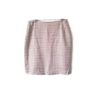 Marks & Spencer skirt tweed pink sz 10